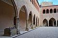 Arcades del pati del castell, Móra de Rubiols.JPG