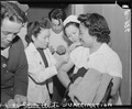 Arcadia, California. Newcomers to Santa Anita assembly center receive vaccination against smallpox . . . - NARA - 537017.tif