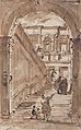 Architectural Fantasy- Figures on a Grand Staircase (recto); Studies for the Frame of a Shaped Field (verso) MET 37.165.86 RECTO.jpg