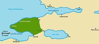 Armutlu Peninsula - Image: Armutlu Yarımadası