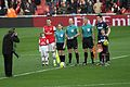 Arsenal vs Blackburn captains mascots officials.jpg