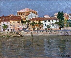 Summer morning on the Adige in Verona