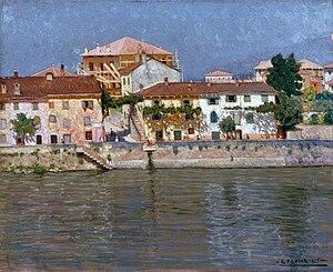 Guido Farina - Mattino d'estate sull'Adige o Lungo Adige a Verona, 1925 (Fondazione Cariplo)