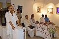 Ashim Kumar Banerjee Addressing - Biswatosh Sengupta Solo Exhibition Inauguration - Kolkata 2015-07-28 3195.JPG
