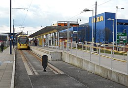 Ashton-under-Lyne tram stop, Feb 18.jpg