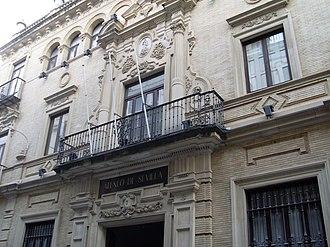 Ateneo de Sevilla - Main façade, Ateneo de Sevilla, designed by Vicente Traver y Tomás