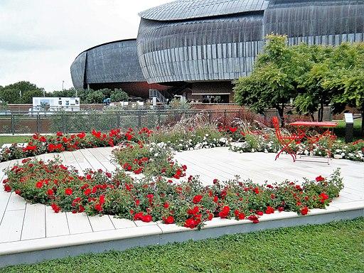 Auditorium Parco della Musica, Roma, terrazza in rosso