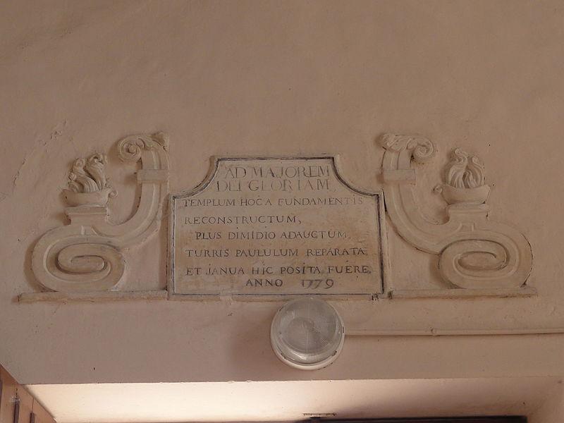 Aulnois sous Vertuzey (Meuse) Église Saint Sébastien texte reconstruction nef 1779