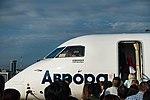 Aurora aircraft vladivostok artyom airport september 2017 002 bombardier.jpg