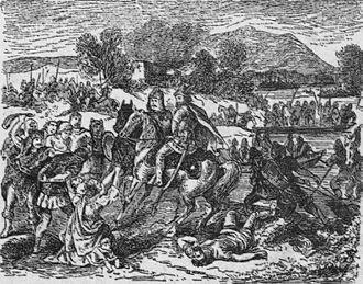 Avar Khaganate - Avars plundering Balkan lands.