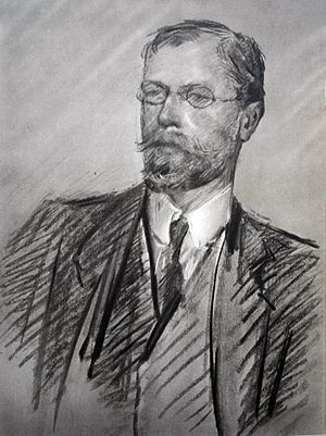 English: Charcoal/pastel portrait of Axel Munt...