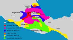 Moctezuma I - Image: Aztecexpansion