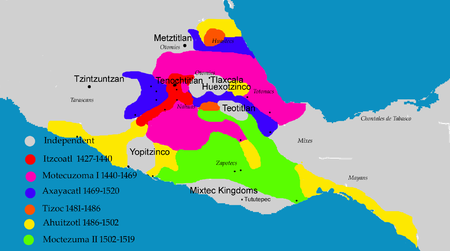 Aztec Civilization Map Aztec Empire   Wikipedia