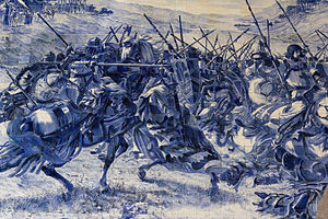 Battle of Valdevez - Azulejo panel depicting the Battle of Valdevez at the São Bento railway station, Porto