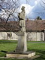 Březiněves, park, socha sv. Jana Nepomuckého (02).jpg