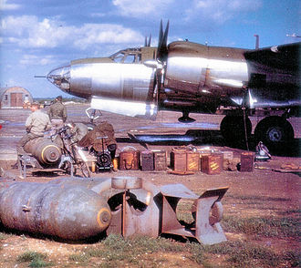 London Stansted Airport - Unidentified B-26 Marauder of the 344th Bomb Group at Stansted, 1944.