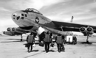McConnell Air Force Base - B-47A pilots training at Wichita's McConnell AFB in 1955. The planes were built across the runway at Boeing