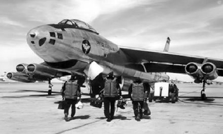 B-47A pilots training at Wichita's McConnell AFB in 1955. The bombers were built across the runway at Boeing - Wichita, Kansas