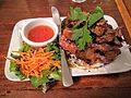 BBQ pork meal in Thai restaurant in Sydney.jpg