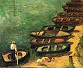 BERNARD Emile,1890 - Barques à Pont-Aven.jpg
