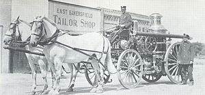 Bakersfield Fire Department - Image: BFD Horse Drawn Eng