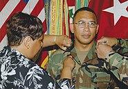 BG Albert Bryant Pinned by Renee Bryant at 4th Infantry Division Ceremony