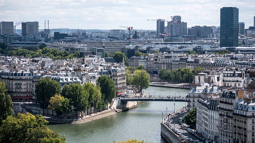 BNF et l%27UPMC vues de la Tour Saint-Jacques, Paris ao%C3%BBt 2014