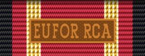 German Armed Forces Deployment Medal - Image: BW Einsatz EUFOR RCA Bandschnalle bronze