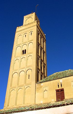 Bab Berdieyinne Mosque - The minaret of the Bab Berdieyinne Mosque, pictured in December 2009