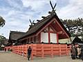 Backview of 2nd Hongu of Sumiyoshi Grand Shrine.jpg