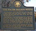 Bacon-Fraser house marker.jpg