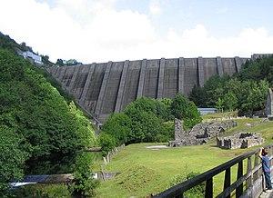 Clywedog Reservoir - Below Clywedog reservoir dam