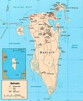 Mapa ng Bahrain mula sa 2003 World Factbook