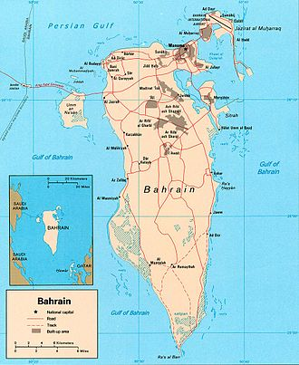 Outline of Bahrain - An enlargeable map of Bahrain