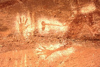 Milbrodale, New South Wales - Image: Baiame Cave Bulga 0001