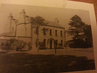 Ballygall - Ballygall House, 16th century seat of the Ball family. The final occupants were the Craigie family. Photo was taken in 1964.