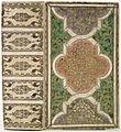 Band van blank perkament, bruinig rood, licht grijsviolet en blauwig groen beschilderd-KONB12-1756D126.jpeg