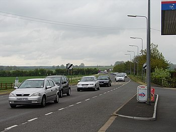 English: Bank Holiday Monday traffic approachi...