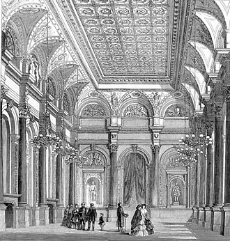 Worshipful Company of Clothworkers - The Livery Hall of the Clothworkers' Company in 1859.