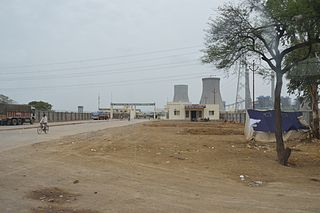 Bara Thermal Power Station building in India
