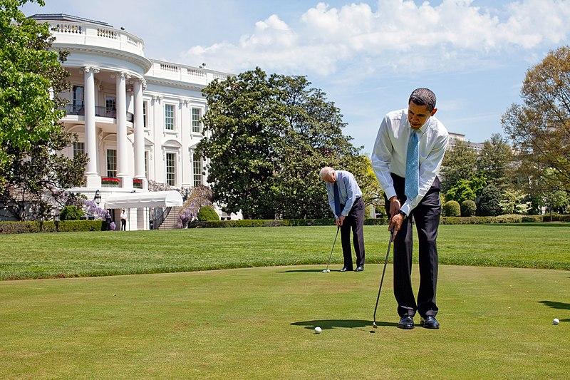 File:Barack Obama & Joe Biden on White House putting green 4-24-09.jpg
