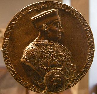 Ludovico III Gonzaga, Marquis of Mantua - Coin of Ludovico III Gonzaga (1475).