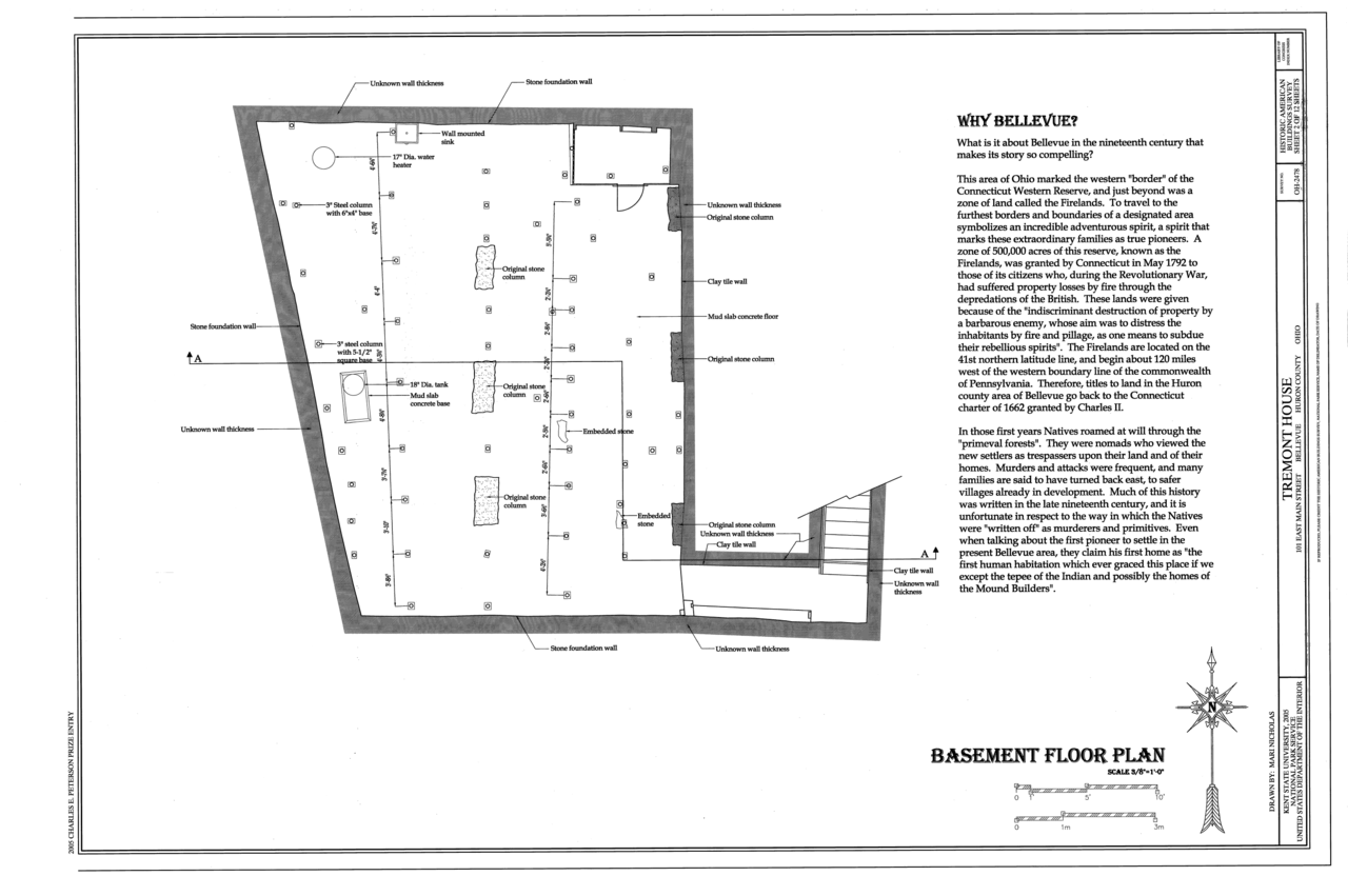 file basement floor plan tremont house 101 east main street file basement floor plan tremont house 101 east main street bellevue huron county oh habs oh 2478 sheet 2 of 12 png