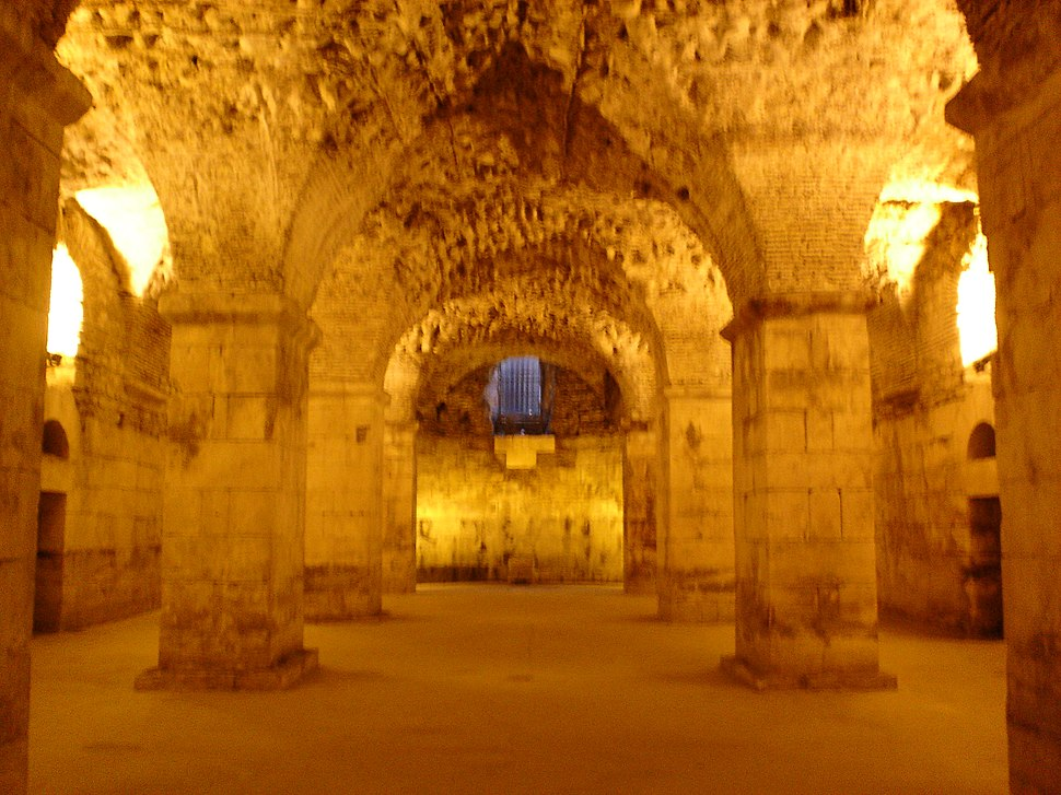 Basement of Diocletian%27s Palace