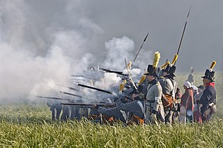 Historical reenactment activity where people recreate aspects of a historical event