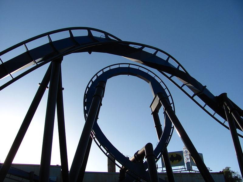 File:Batman The Ride Backwards at Six Flags Magic Mountain (13207898193).jpg
