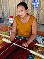 Bawm (Indigenous) Woman Weaving - Boga Lake - Chittagong Hill Tracts - Bangladesh (13186010193).jpg