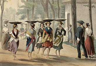 Basques - Basque women in Bayonne