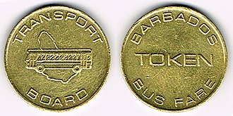 Barbados Transport Board - Tokens, each valid for one ride.