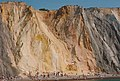 Beach at Alum Bay with coloured cliffs at rear - geograph.org.uk - 2207802.jpg